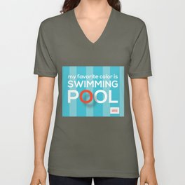 My favorite color is swimming pool Unisex V-Neck
