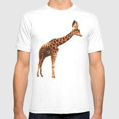 Giraffe Pope Mens Fitted Tee MEDIUM White