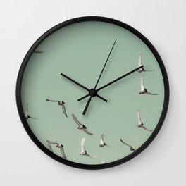 Mint Skies Wall Clock