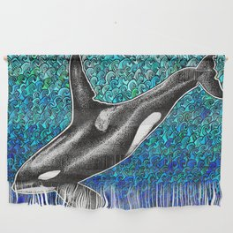 Orca killer whale and ocean Wall Hanging