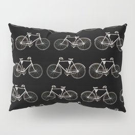 Vintage Bicycle Pattern Pillow Sham