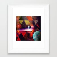 planet Framed Art Prints featuring Planet by Tony Vazquez