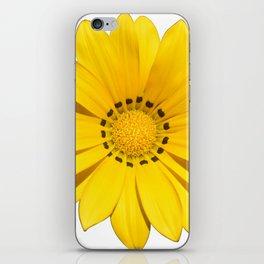 Yellow flower / dots iPhone Skin