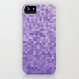 Pixels Gradient Pattern in Purple iPhone Case