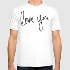 Love You x Orange Floral White Mens Fitted Tee X-LARGE