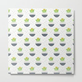 Potted Kalanchoe Plant Mom Pattern Metal Print