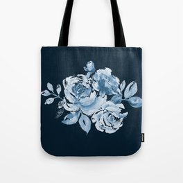 Country Rose on Indigo Tote Bag