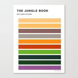 The colors of - The jungle book Canvas Print