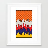 lichtenstein Framed Art Prints featuring Lichtenstein by Quick Brown Fox