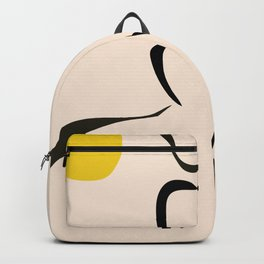abstract minimal nude Backpack