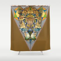 jaguar Shower Curtains featuring jaguar by David Stone