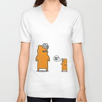 hug V-neck T-shirts featuring Hug? by JRosas