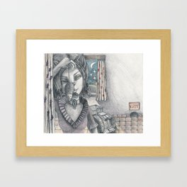 Cat metamorphosed Framed Art Print
