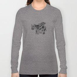 Illustrated Rhino – Union – Black Long Sleeve T-shirt