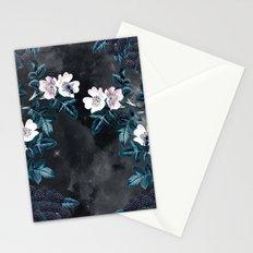 Night Garden Bees Wild Blackberry Stationery Cards