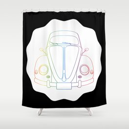 Rainbow Beetle Shower Curtain