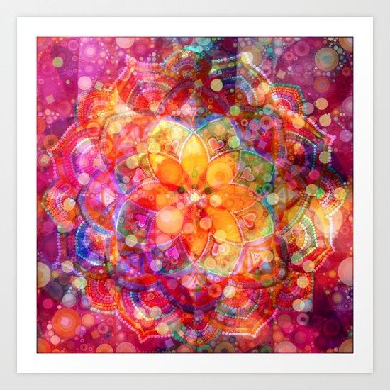 Dreaming Lotus Art Print