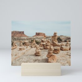 Rock Cairns of Moab Mini Art Print