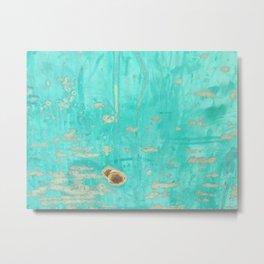 Fading Blue Paint Metal Print