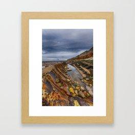 Hunstanton shipwreck Framed Art Print