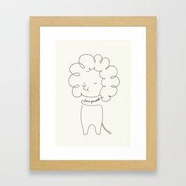 Love Yourself Lion Framed Art Print