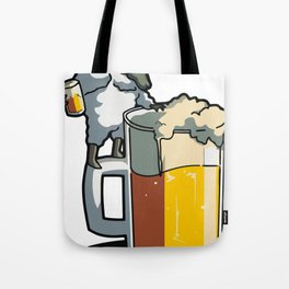 sheep hitch a beer Tote Bag