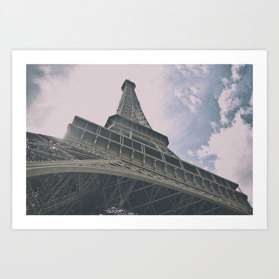 Eiffel Tower in Paris, France. Landmark in France Art Print