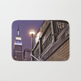 Empire State Subway - New York Photography Bath Mat