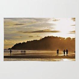 Silhouette sunset in Costa Rica Rug
