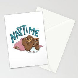 Nap Time Sloth Stationery Cards