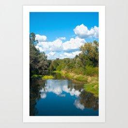 Big Chico Creek, Chico CA Art Print
