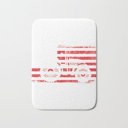 "A Farm Shirt For Farmers ""American Flag Tractor"" The Lifestyle Of Every Great Farmer T-shirt Design Bath Mat"