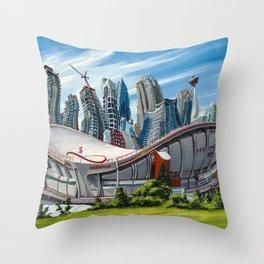 Downtown Calgary Skyline Throw Pillow