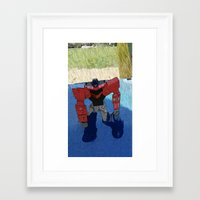 optimus prime Framed Art Prints featuring Optimus by Tara Michele