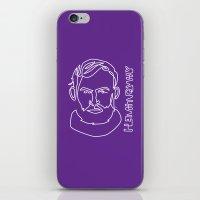 hemingway iPhone & iPod Skins featuring Hemingway by G_Stevenson