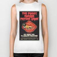 rocky horror Biker Tanks featuring Puggy Horror by Dark Lord Pug