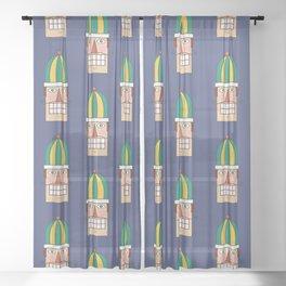 Nutcracker Army 02 (Patterns Please) Sheer Curtain
