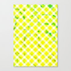 Lattice Lime Canvas Print