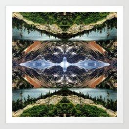 Diamond in the sky Art Print