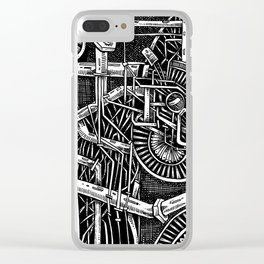 Gears of the universe Clear iPhone Case