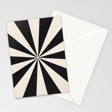 black starburst Stationery Cards
