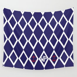 Diamond Anchor Personalized Print Wall Tapestry