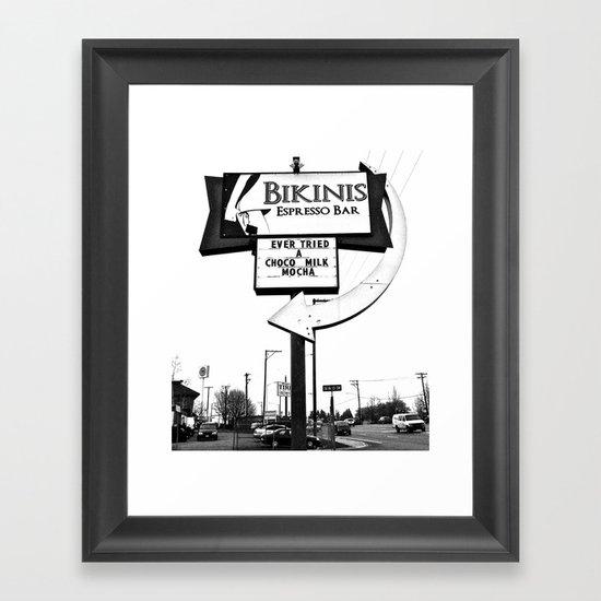 Bikinis Espresso Framed Art Print