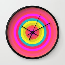 Pink Radial Wall Clock