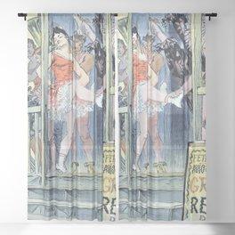 12,000pixel-500dpi - Eugene Grasset - The Dance - Digital Remastered Edition Sheer Curtain