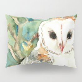 Barn Owl, woodland design owl Pillow Sham