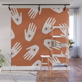 See Hold Love | Terracotta & Pink Wall Mural