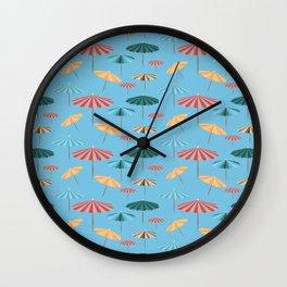Blue parasol Wall Clock