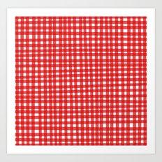 Red Gingham Art Print