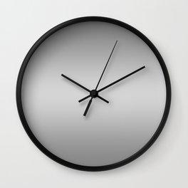 Gray to White Horizontal Bilinear Gradient Wall Clock